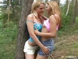 Lesbian teens in the forest