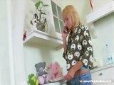 Teen girl fucked in the kitchen