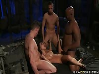 Interracial hardcore foursome
