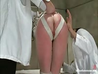 Slavegirl gets spanked and dominated by a kinky couple