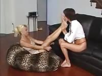 Two hot babes love naked feet
