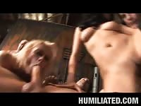 Blonde slave fucked in all holes