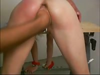 Pierced blonde gets tied up and fisted