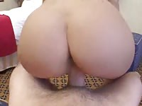 Beautiful Lindsey sucks and fucks pov style