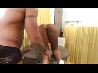 Horny chick gets pounded in her big ass