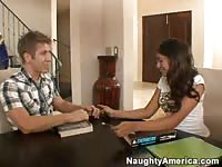 College teen getting fucked by an other student