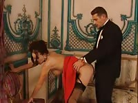 Horny sex in the ballroom