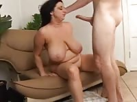 Busty fat milf getting banged hard