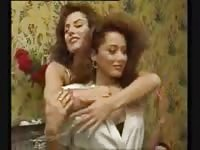Two french hot ladies in lesbian action