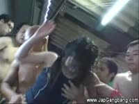 Asian teens gangbanged