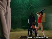 Kinky asian baseball game