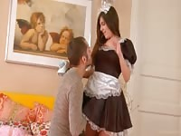 Hot french maid fucked in al positions