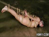 Slavegirl gets tied up and roughly dominated
