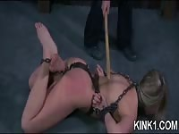 Sister Dee drags Sophie Ryan to the barn for a whipping