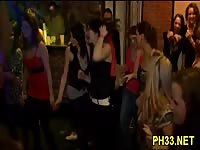 Drunk chicks goind wild in a bar