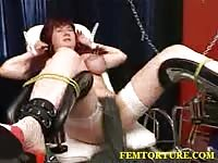 Mature slave tied up and spanked