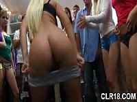 Hot college girls shake their booties at a dorm room party