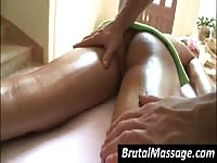 Blondie gets her ass massaged