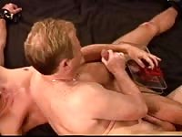 Young guy gets his dick sucked by a older guy