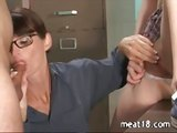 Teacher walks in on a horny couple
