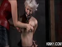Blonde submissive slave humiliated