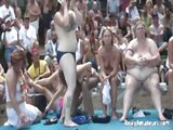 Chicks getting wet and wild in public