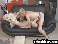 British blonde twink sucking dick in a hot 69