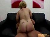 Midget babe humping a big cock
