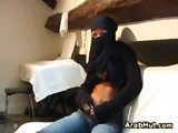 Sexy arab girl strips and masturbates