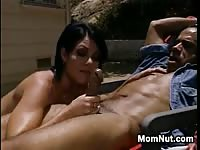 Hot MILF Takes Strong Hard Cock Under The Sun