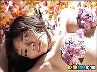 Japanese Girl Modelling Outdoors