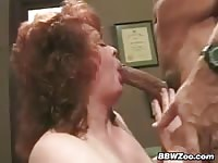 Big Mature Lady In The Office