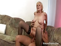 Mature Woman Having A Strong Hard Cock