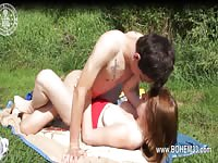 Young Couple Like Making Out Outside