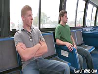 Young Dude Giving A Blowjob In Public Bus