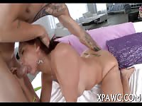 Big White Ass Chick Gets Her Holes Filled