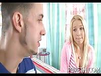 Blonde Teen Fucked Inside Her Room