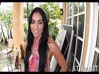 Smoking Latina Rides On Hunk Cock