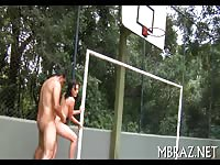 Sexy Brazilian Beauty Gets Fucked On The Court