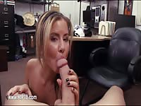Amateur gal giving head POV style