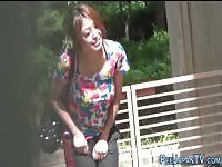 Fetish japanese girls peeing in public