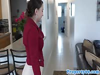 Latina realtor jizzed on all over her face