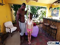 Tiny girl Kylie Rose Takes On Black Monstrous Cock