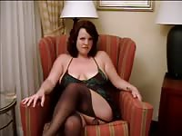 Mature lady in hot lingerie fucked up close