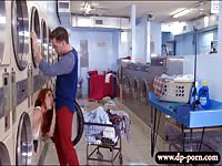 Horny Lennox Luxe inside the washing machine gets fucked