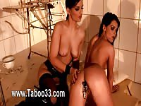 Hot les dominated a submissive babe