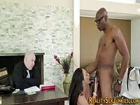 MILF pornstar fuckedin front of her loser hubby