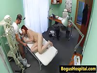 Horny doc trick her hot redhead patient