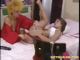 Lesbian retro girls licking and toying