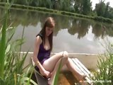Teen girl in a boat